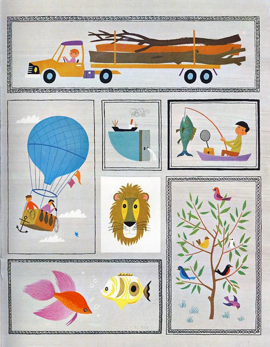 tecknad barnbok 60-tal
