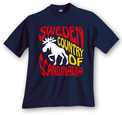 swedish elk souvenir t-shirt