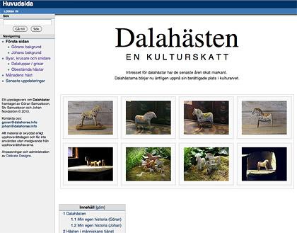 Blogglänk till sajten Dalahästen en kulturskatt