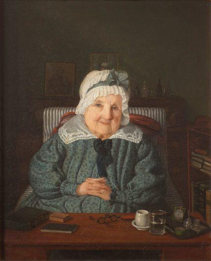 Porträtt av Augusta von Fersen grevinnan Löwenhielm målad av Amalia Lindegren 1844
