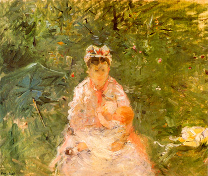 Berthe-Morisot_The-wet-nurse-and-Julie_1880