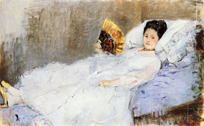 Berthe-Morisot_Woman_with-a-fan_portrait-of-Madame-Marie-Hubbard_1874