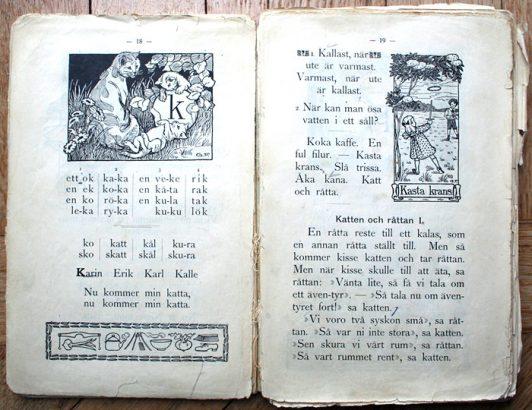 """Illustrator Gunhild Facks """"Första läseboken"""""""