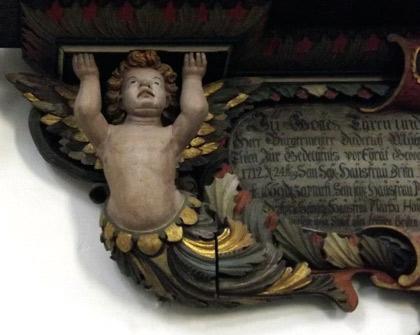 Gammal fin ängel i Kalmar domkyrka