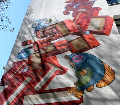 street art wall painting hamburg tyskland
