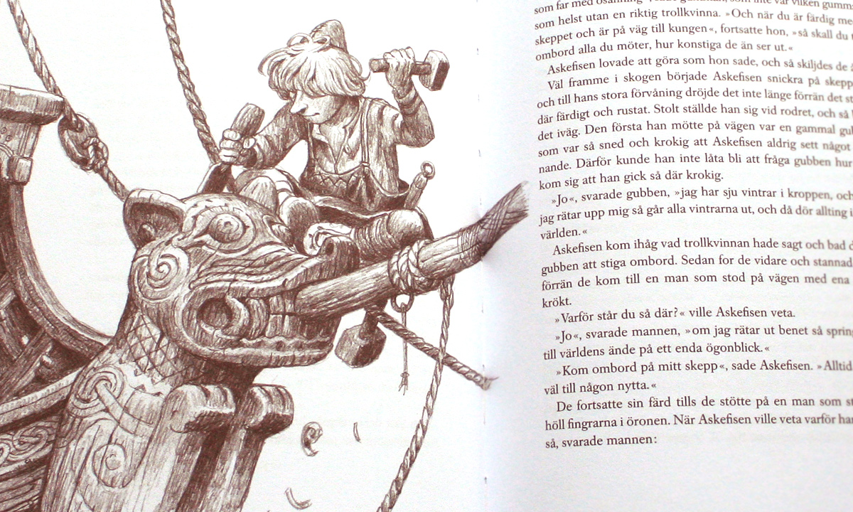 Alvaro Tapia illustration till boken Svenska folksagor