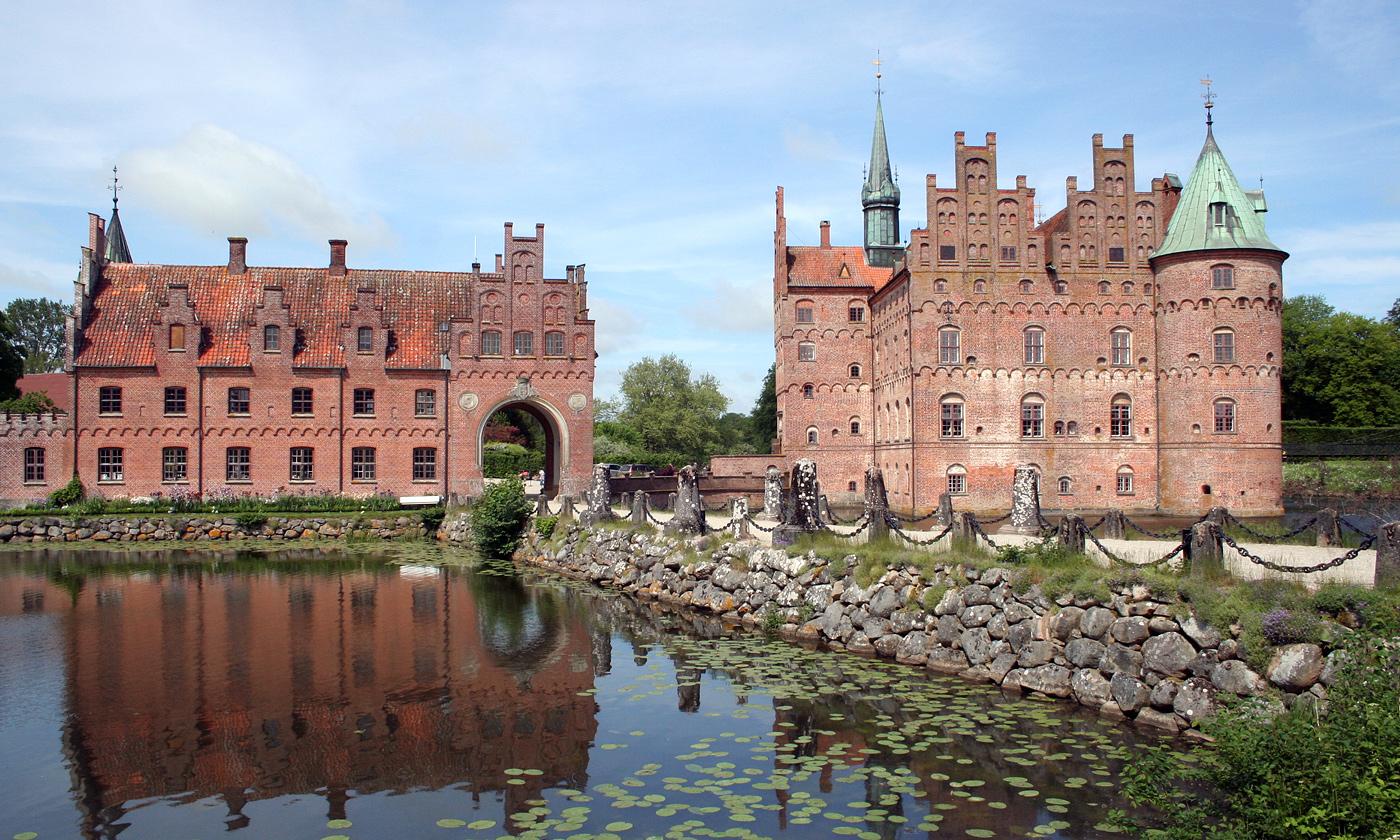 Slottet Egeskov i Danmark