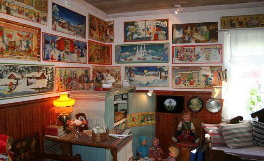 Lafvasgårdens samlarmuseum Sollerön Dalarna julbonader 40 50-tal