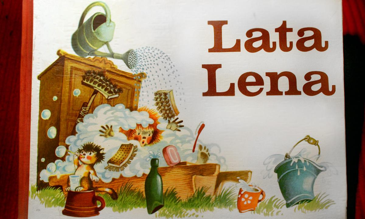 """Omslag till boken """"Lata Lena"""""""