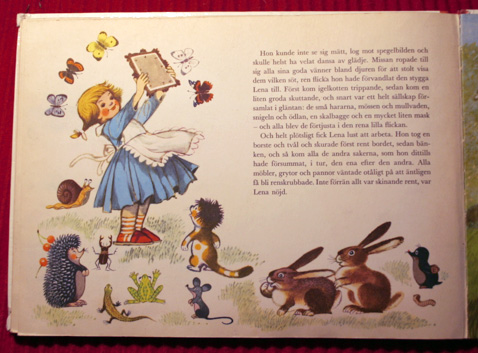 Lenora with the little mole Krtek and his friends-czeck-illustrator-Zdeněk Miler-swedish-childrens-book