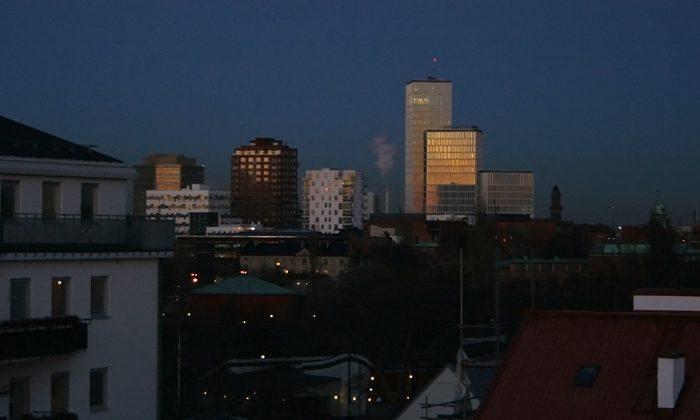 Nybyggda höghus i Malmö
