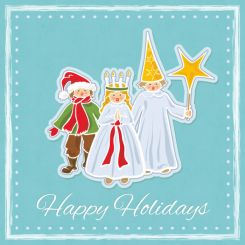 Swedish saint lucia holiday illustrator vector drawing