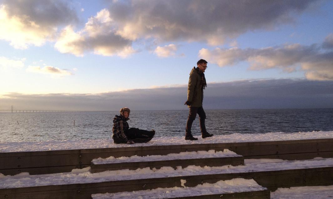 Foto av Andreas och vår grabb