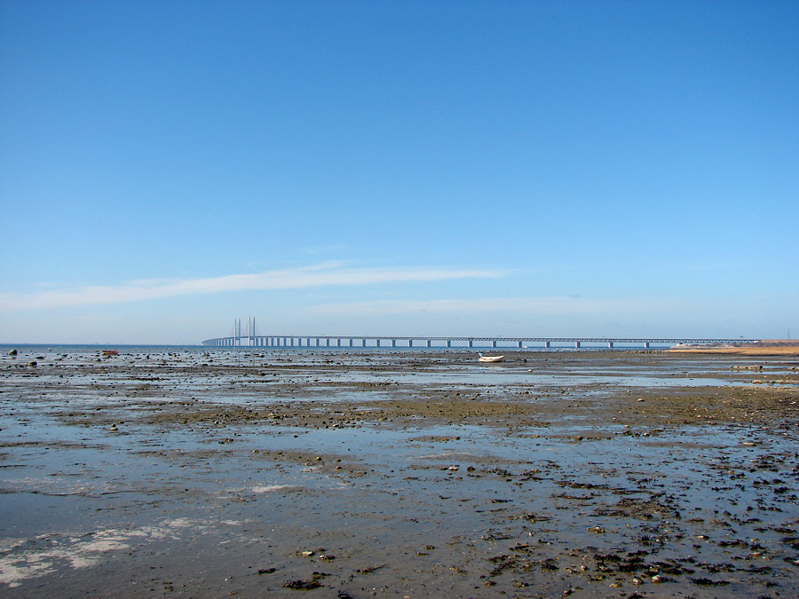Öresund bridge seen from Bunkeflostrand