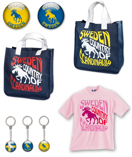 Swedish souvenirs with moose