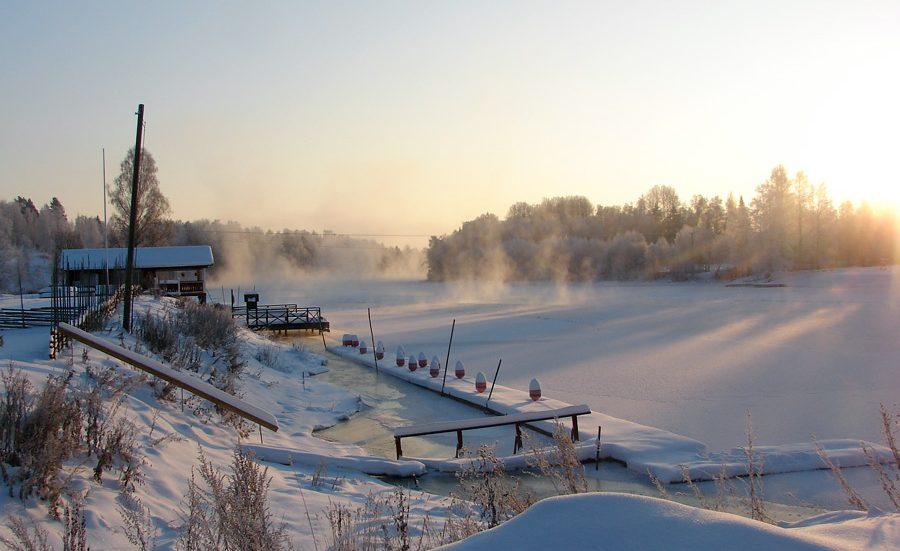 Vinter i Dalarna, Dalälven, Gagnef