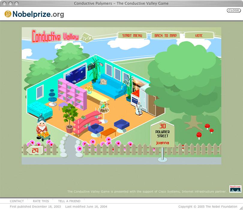 Spel på sajten nobelprize.org