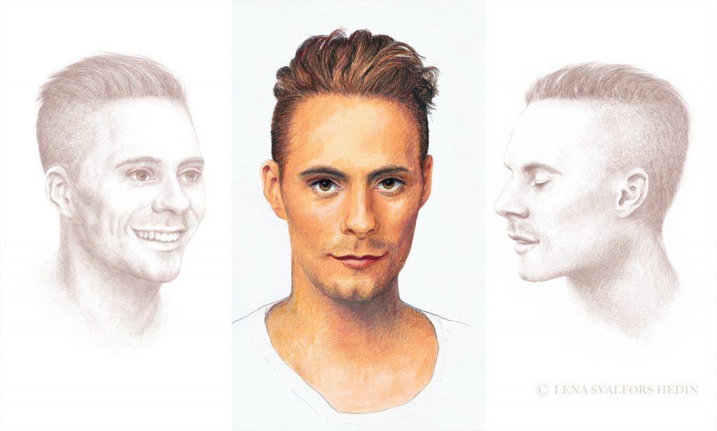 Oskar Linnros tecknat porträtt 2011
