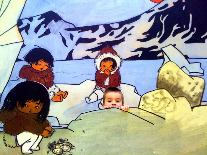 Scenografi från utställning på Millesgården om Ingrid Vang Nyman