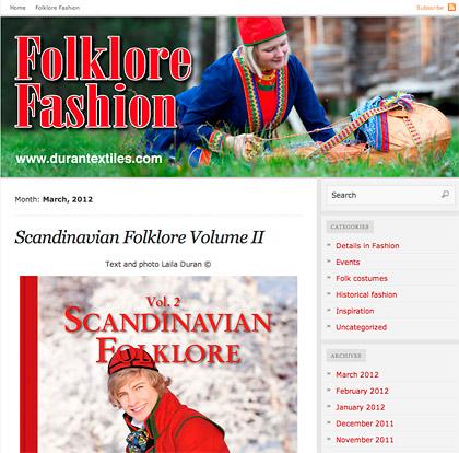 Laila Duráns blogg om folkdräkt och folklore