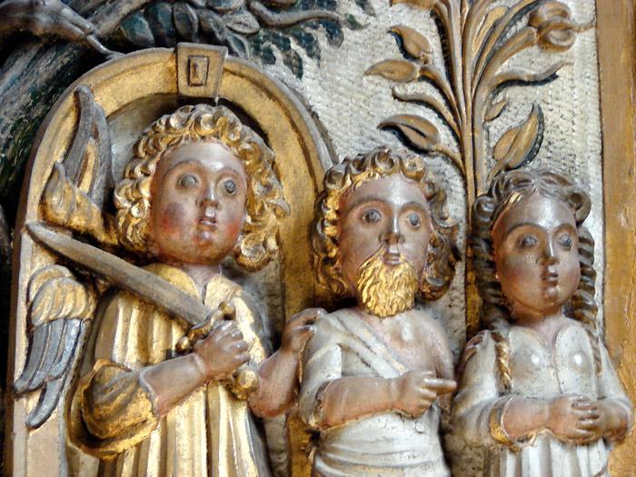 Kyrkoutsmyckningar i Visby domkyrka, Adam, Eva och ängel