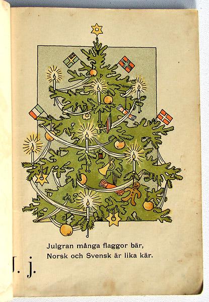 J som i julgran med unionens flaggor