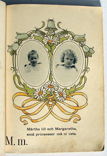 Prinsessornas ABC-bok från 1903 till Märtha och Margaretha