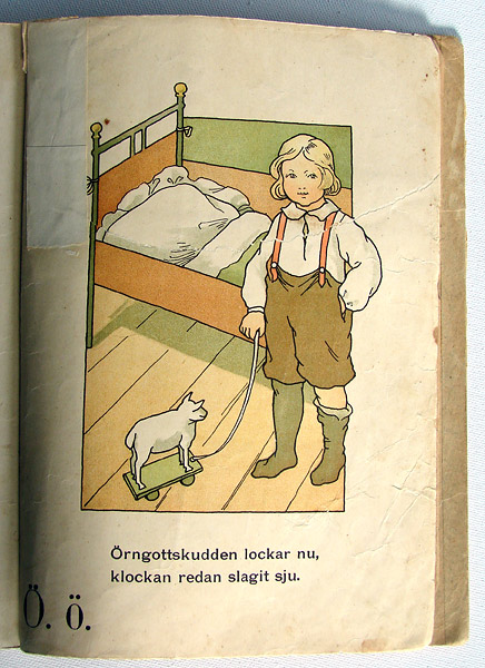 Antik rar barnbok från 1903 av Gunhild Fachs Facks