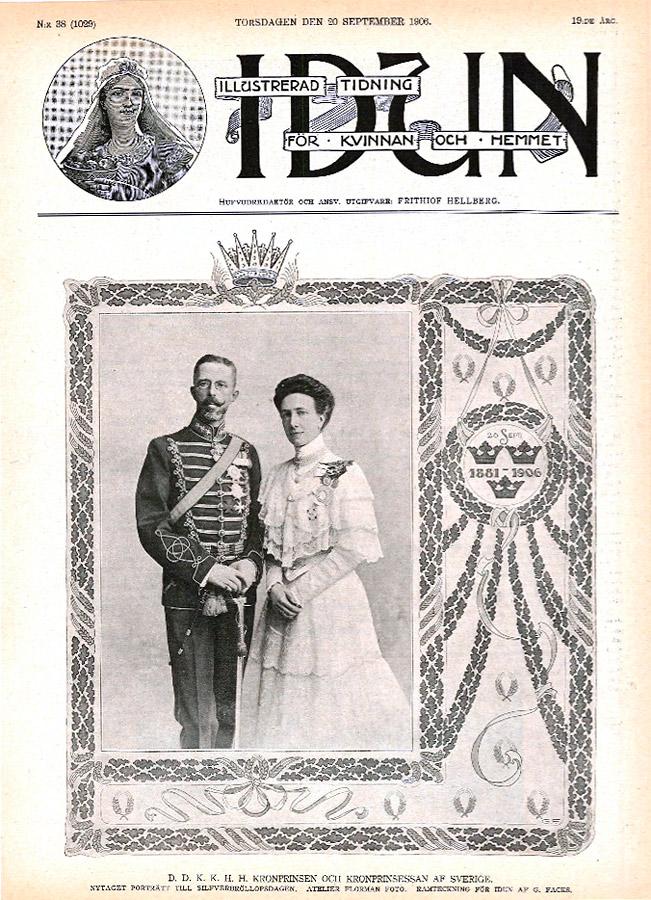 Illustration Gudrun Facks till Idun 1906