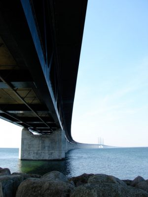 Øresund Bridge bike tour under the bridge