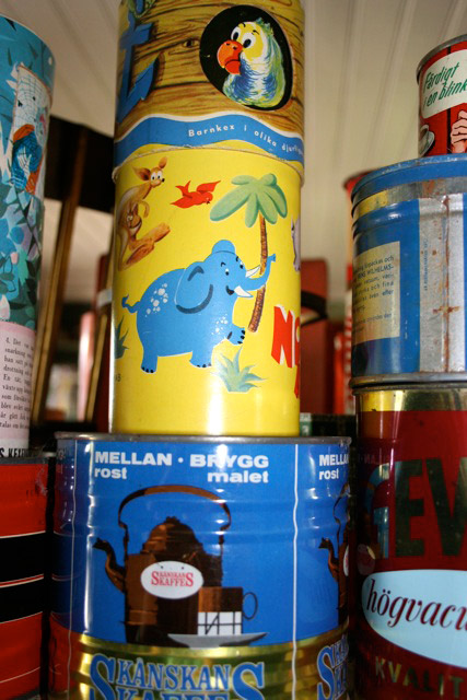 Vintage packaging design from Sweden, shown at Dunbodi country shop museum