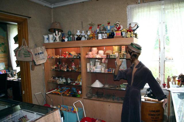 Vintage country shop museum Dunbodi at Dalhem, Gotland, Sweden