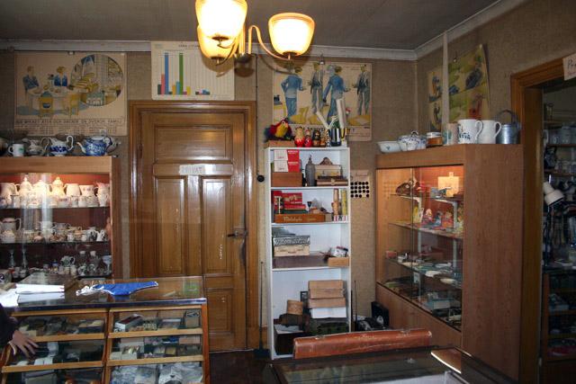 Retro vintage country shop museum Dunbodi at Dalhem, Gotland, Sweden