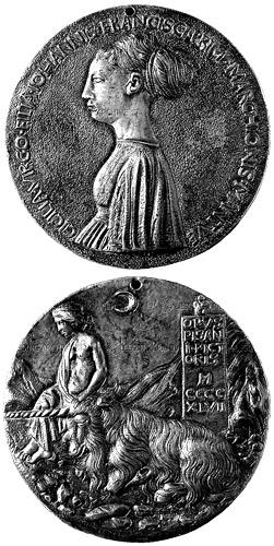 Medalj av Pisanello