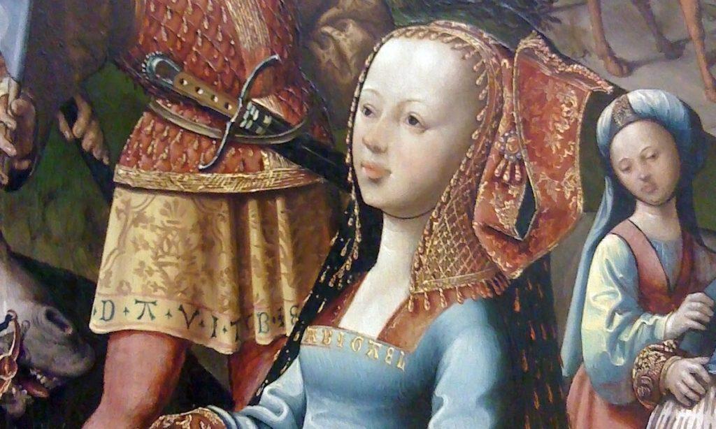 David och Abigail av Jacob Cornelisz van Oostsanen