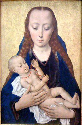 Jesusbarnet och Maria