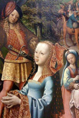 Ladys beautiful head middle ages