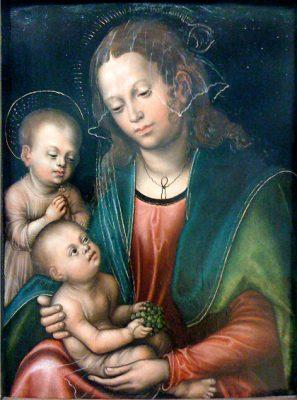 Jungfrun och barnet Jesus av Lucas Cranach den äldre