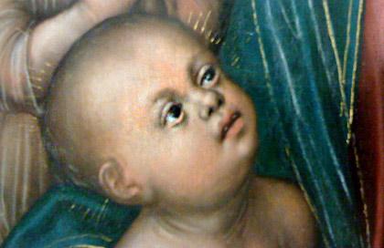 Detalj av tavla av Lucas Cranach den äldre