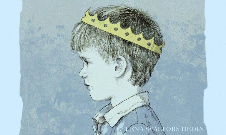 Lille prinsen teckning barnporträtt