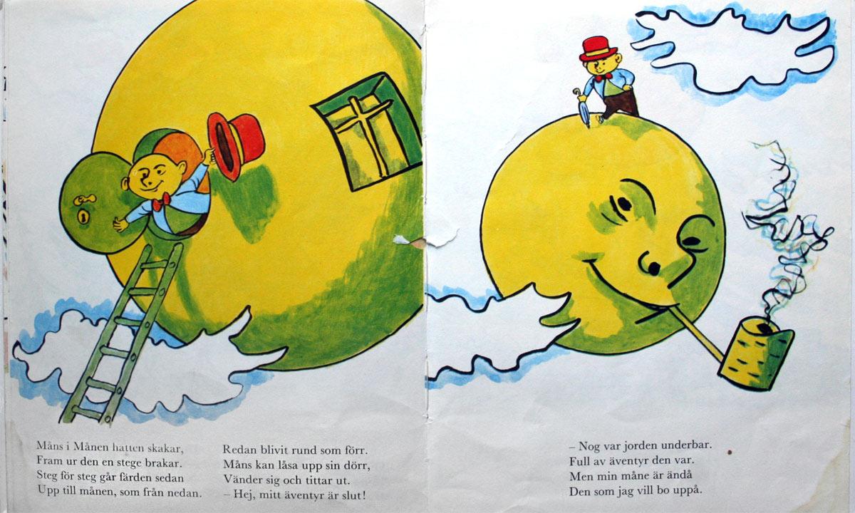Gubben Måns i månen, barnbok av Einar Norelius