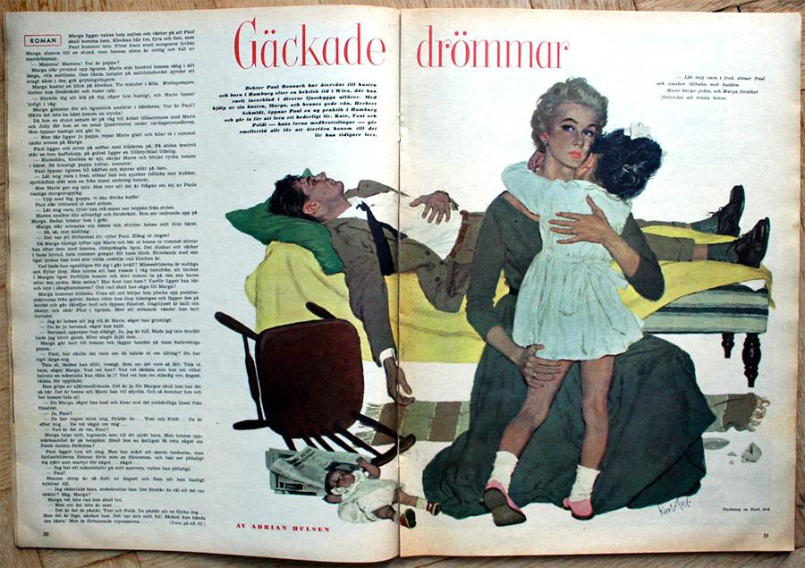 Magazine illustration for Allers by Kurt Ard 1957