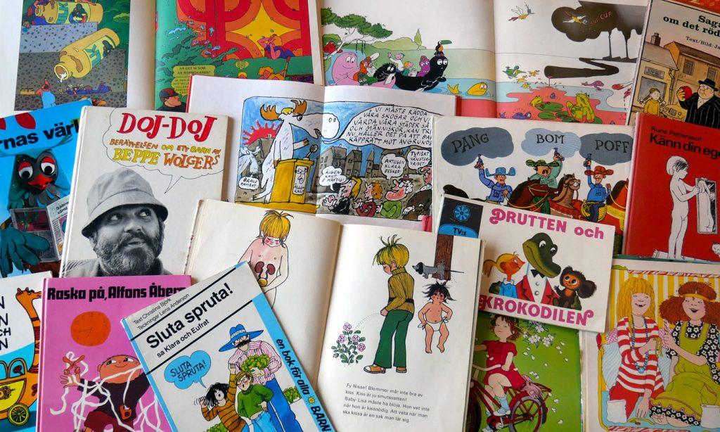 Barnböcker från 70-talet i min samling