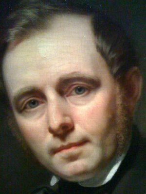 Porträtt av Carl Gustaf Qvarnström 1852, målat av konstnären Amalia Lindegren