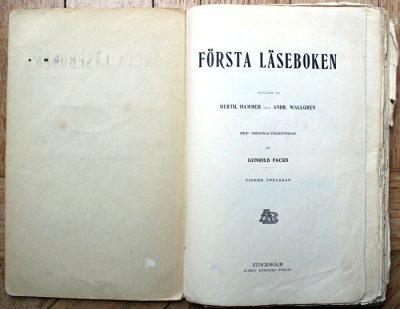 Första Läseboken Bonniers förlag 1911