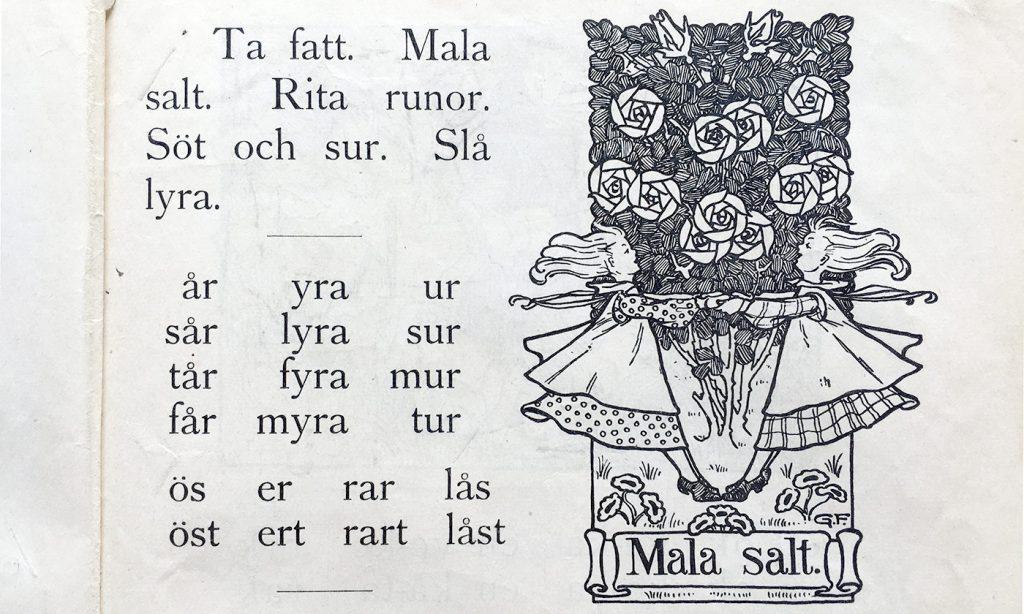 Lek-illustration Mala salt ur Första läseboken
