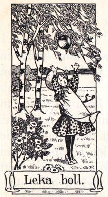 Leka boll illustration av Gunhild Facks