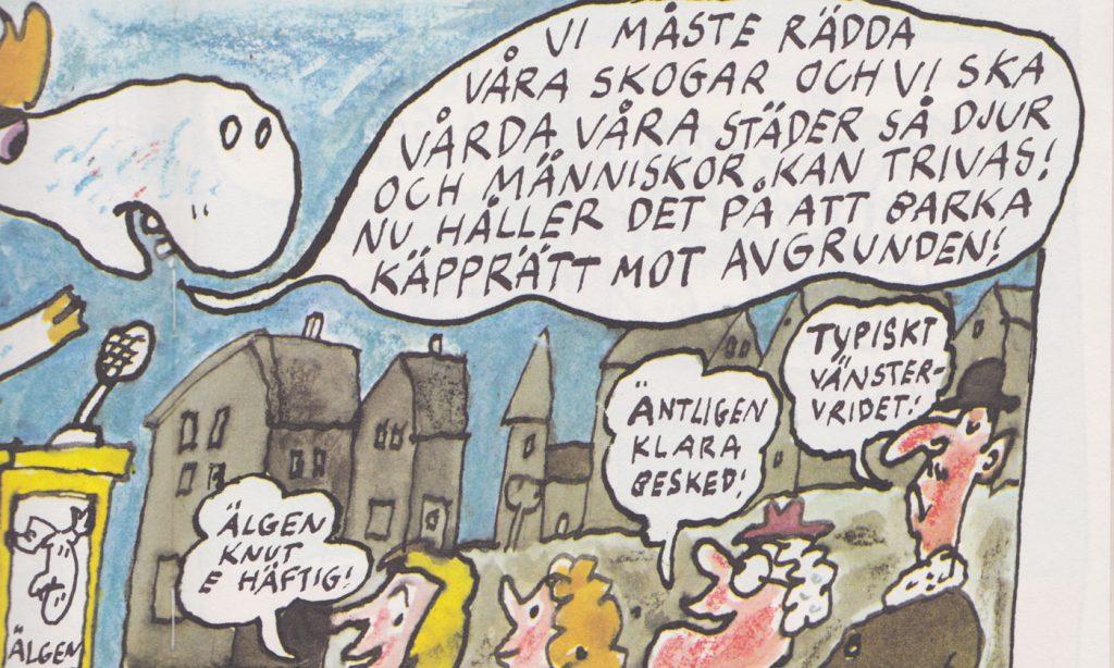 Vita älgen Knut 70-tal barnbok om miljöhot