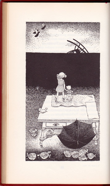 Illustrationer av Hans Arnold i bok av Gunnel Linde 1963