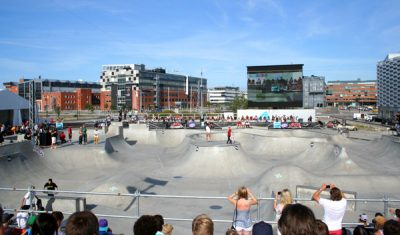 Skateboard competition i Stapelbäddsparken Malmö